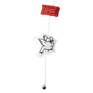 Karlie-Flamingo Hračka pro kočky - Simon´s Cat červený oválný polštářek na provázku Ryba 6x6x2cm