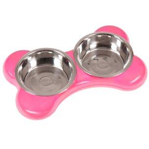 Karlie-Flamingo Miska nerez KOST 2x2l/49x30x10/růžová