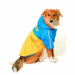 Pláštěnka pro psy 2v1 s odnímatelnou kapucí 29cm