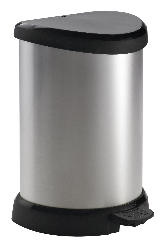 Curver odpadkový koš, DECO BIN, stříbrný, 20l