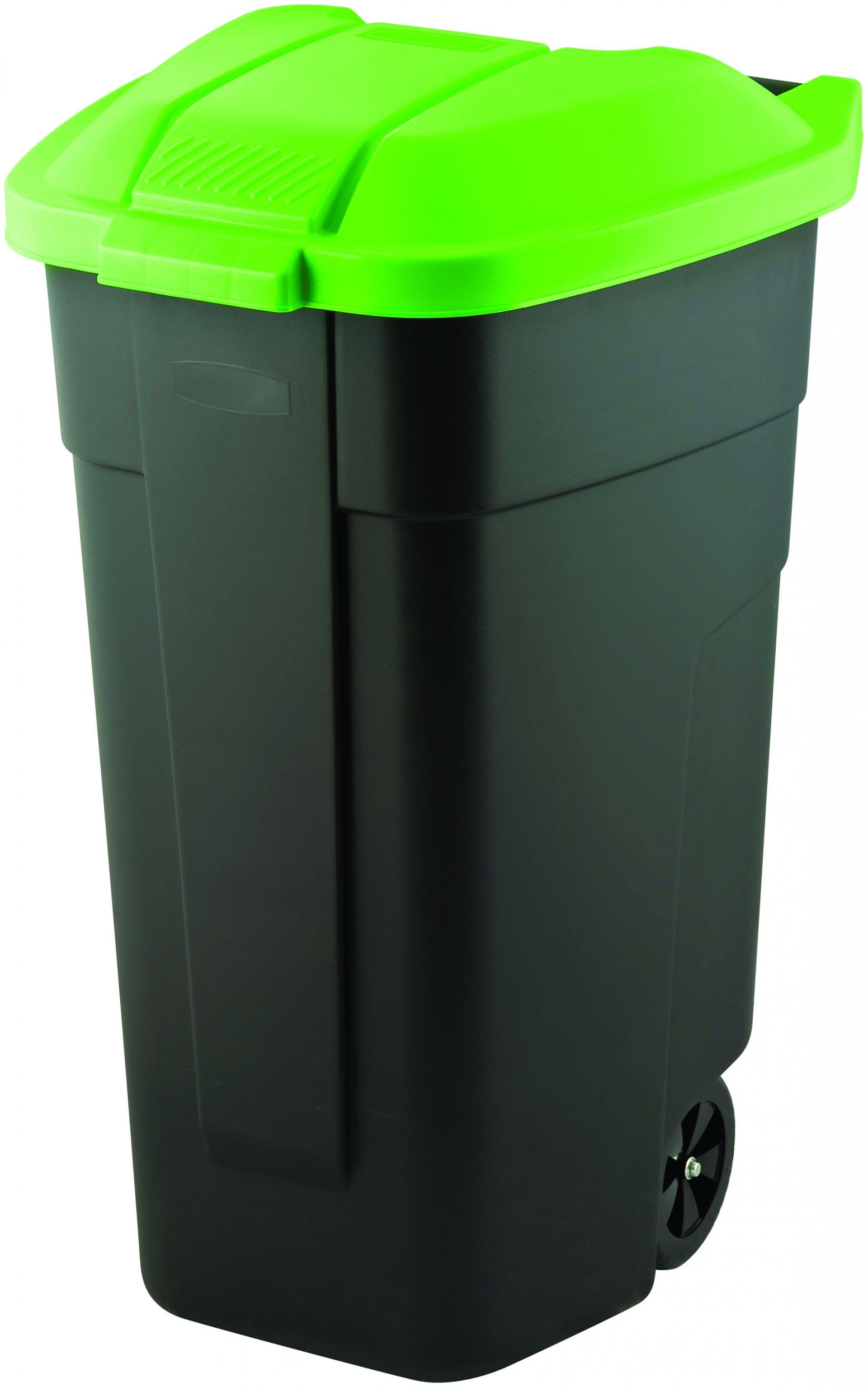 Curver popelnice, černá/zelená, 110l