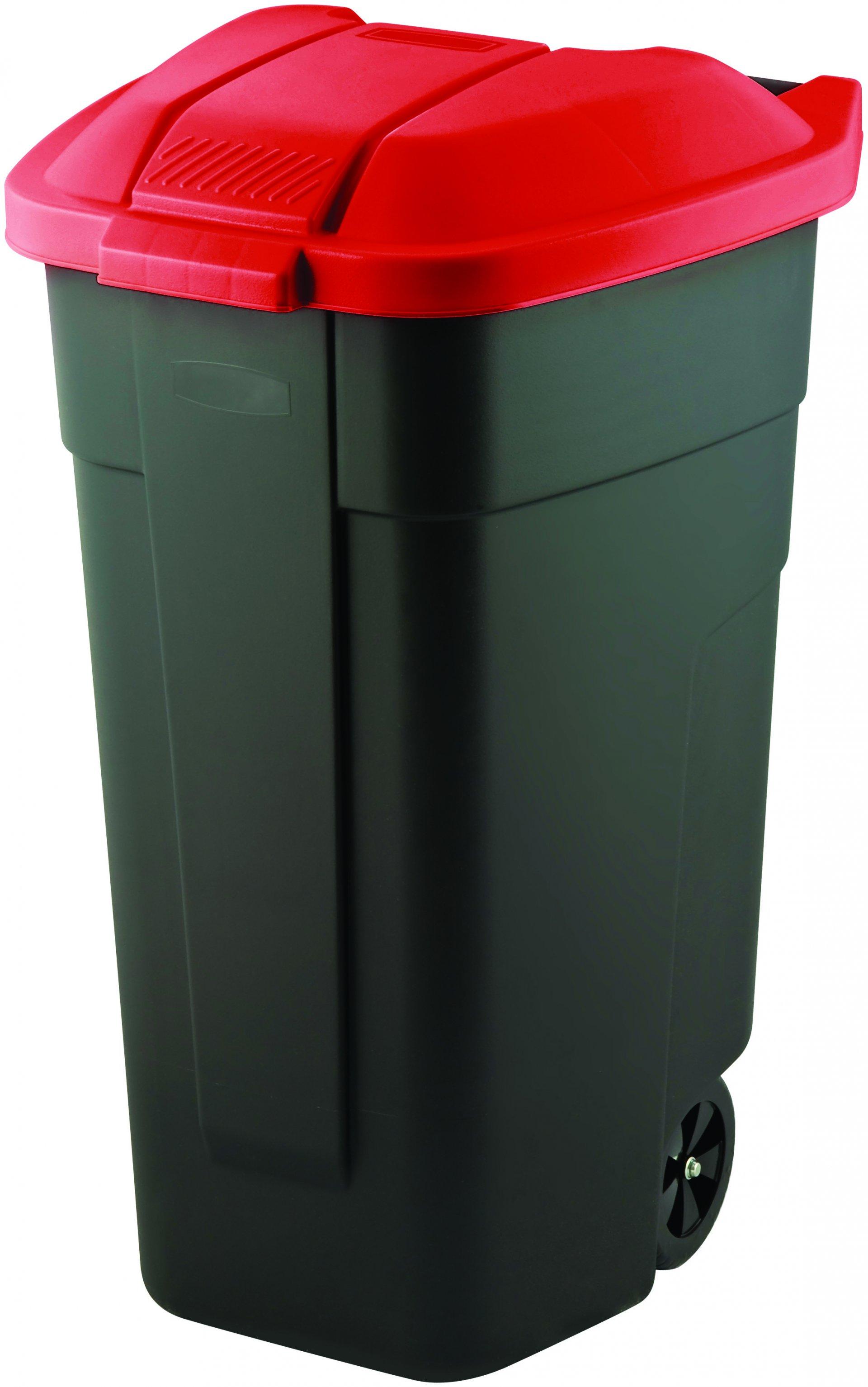 Curver popelnice, černá/červená, 110l