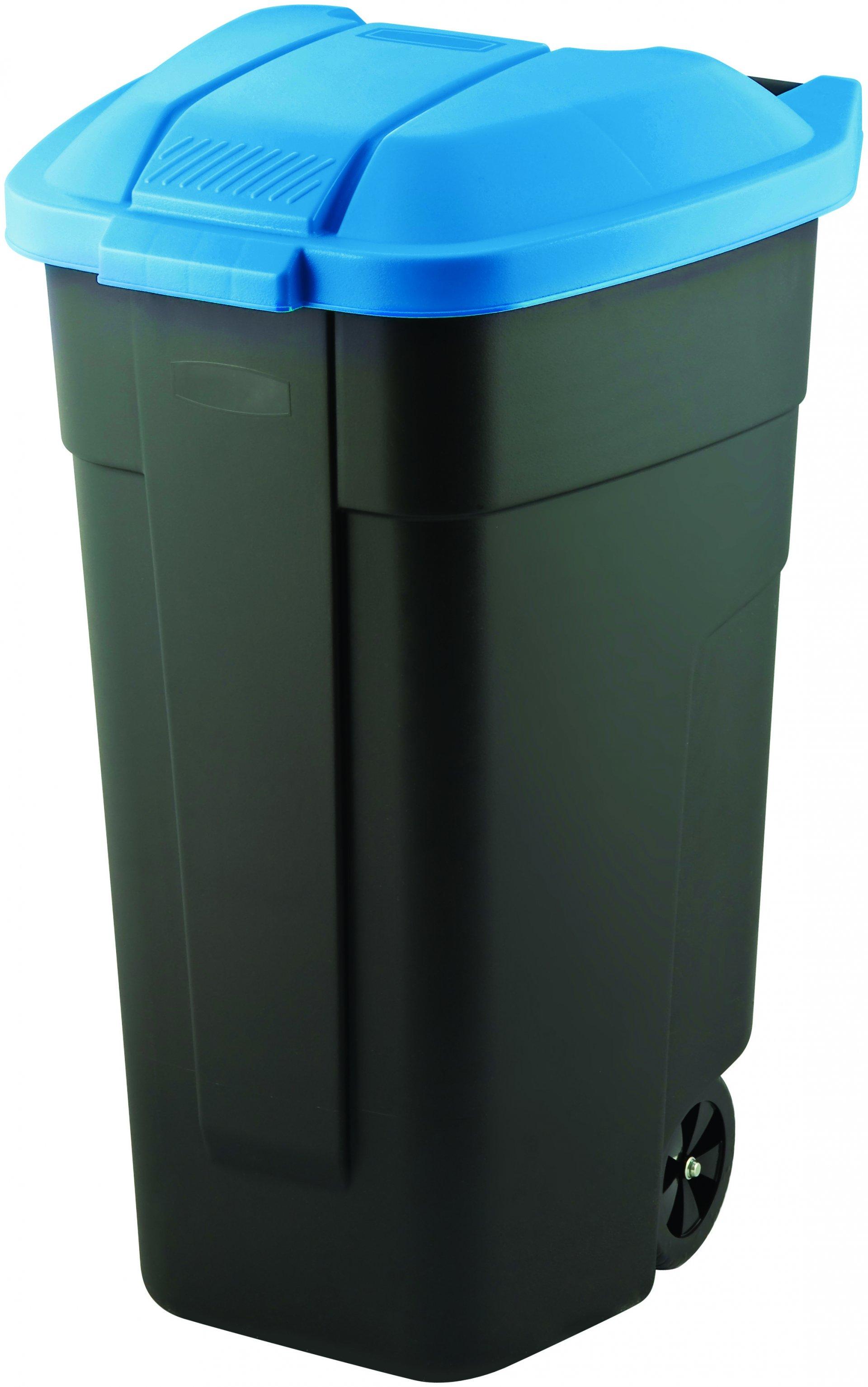 Curver popelnice, černá/modrá, 110l