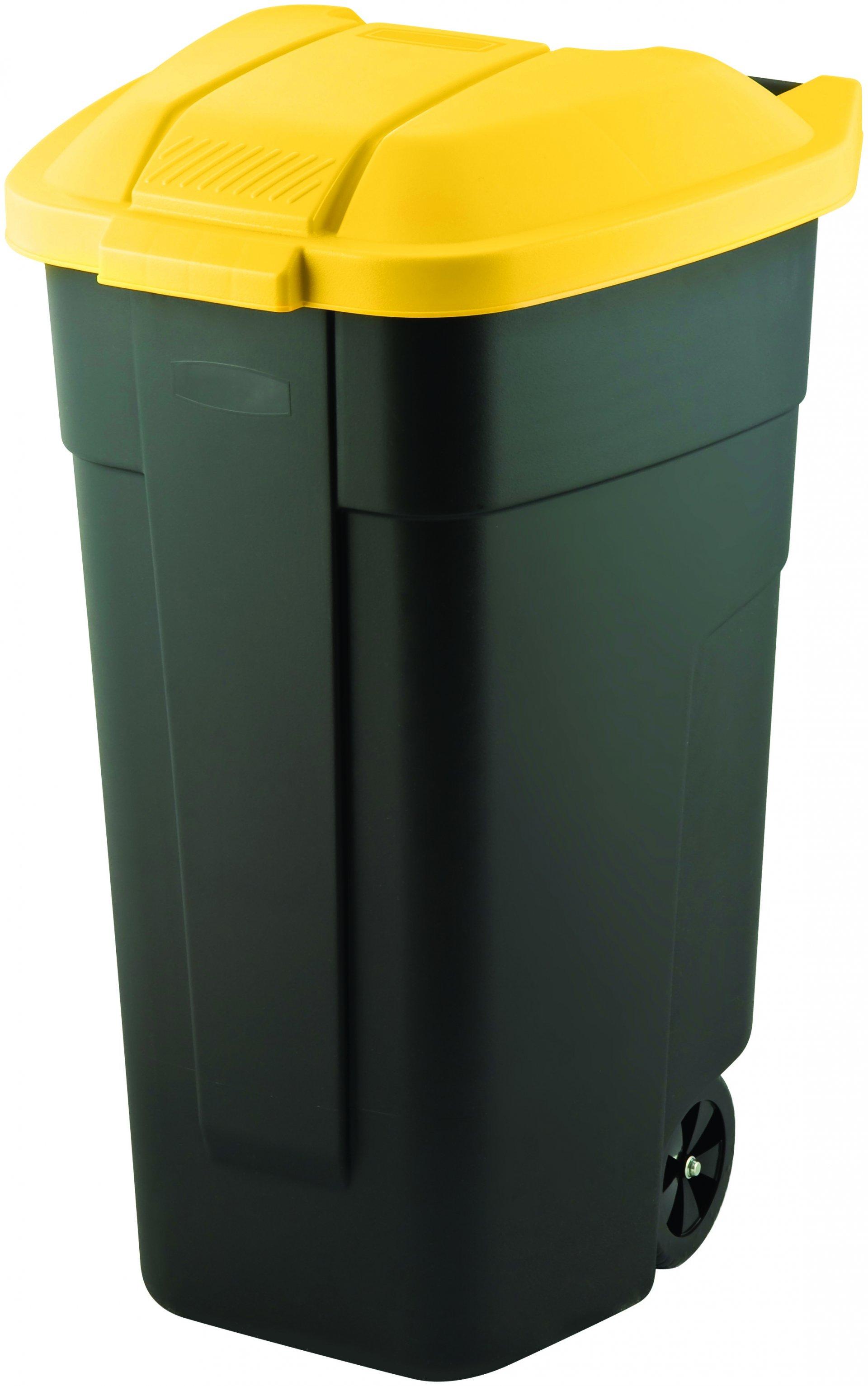 Curver popelnice, černá/žlutá, 110l