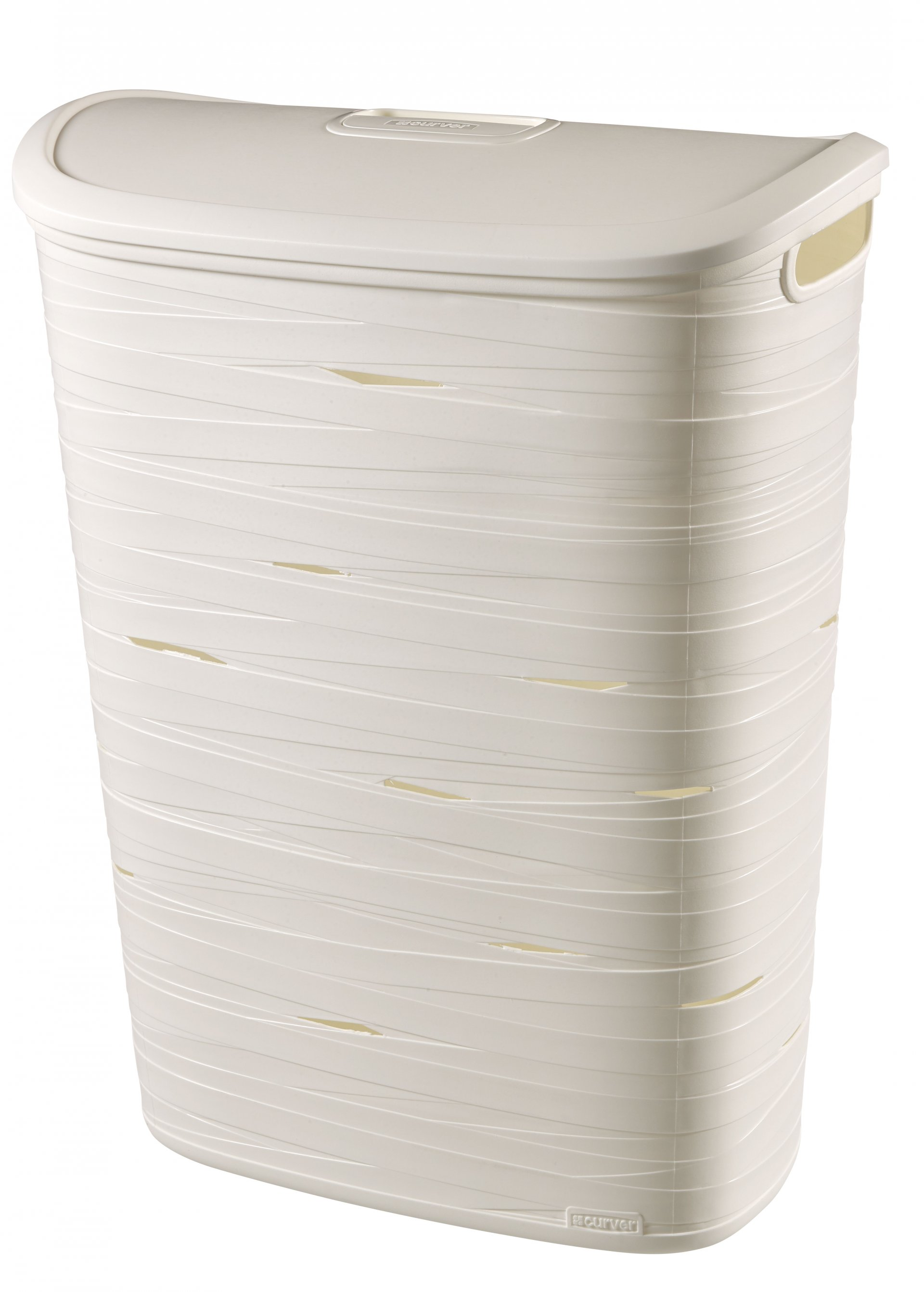 Curver Koš na špinavé prádlo RIBBON 49l bílý
