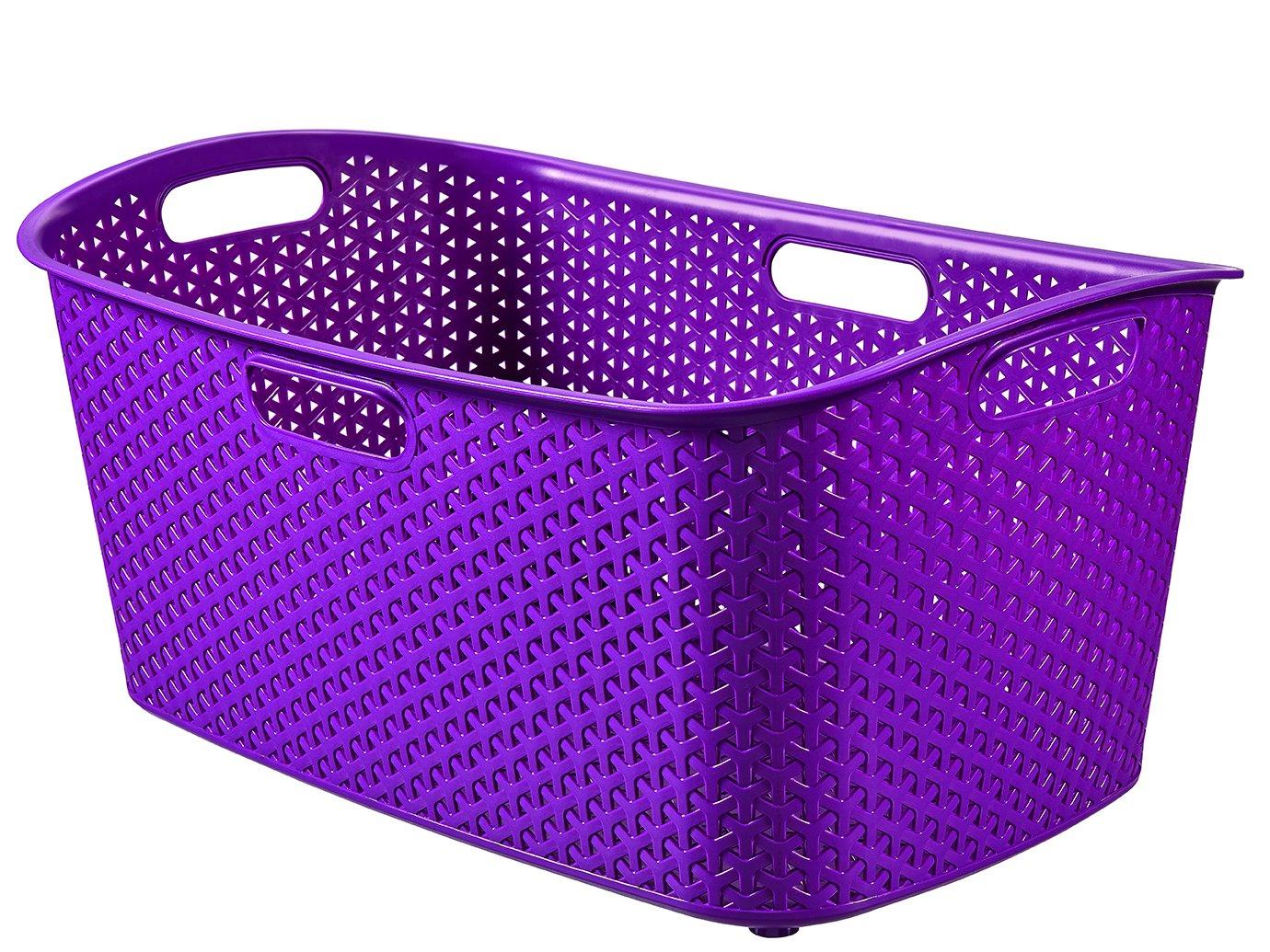 Curver Koš na čisté prádlo  MY STYLE 47l fialový