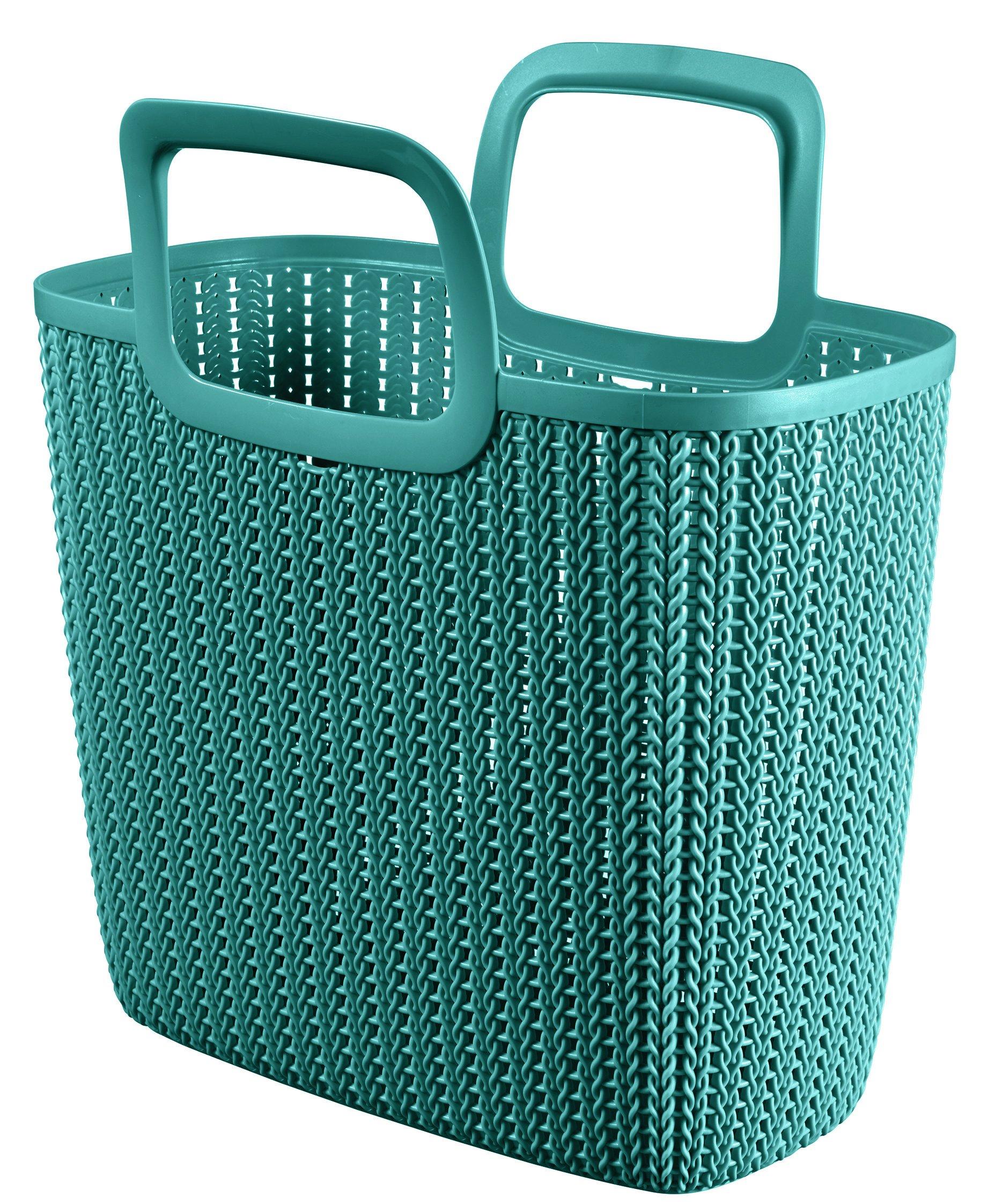 Curver Knit nákupní taška modrá
