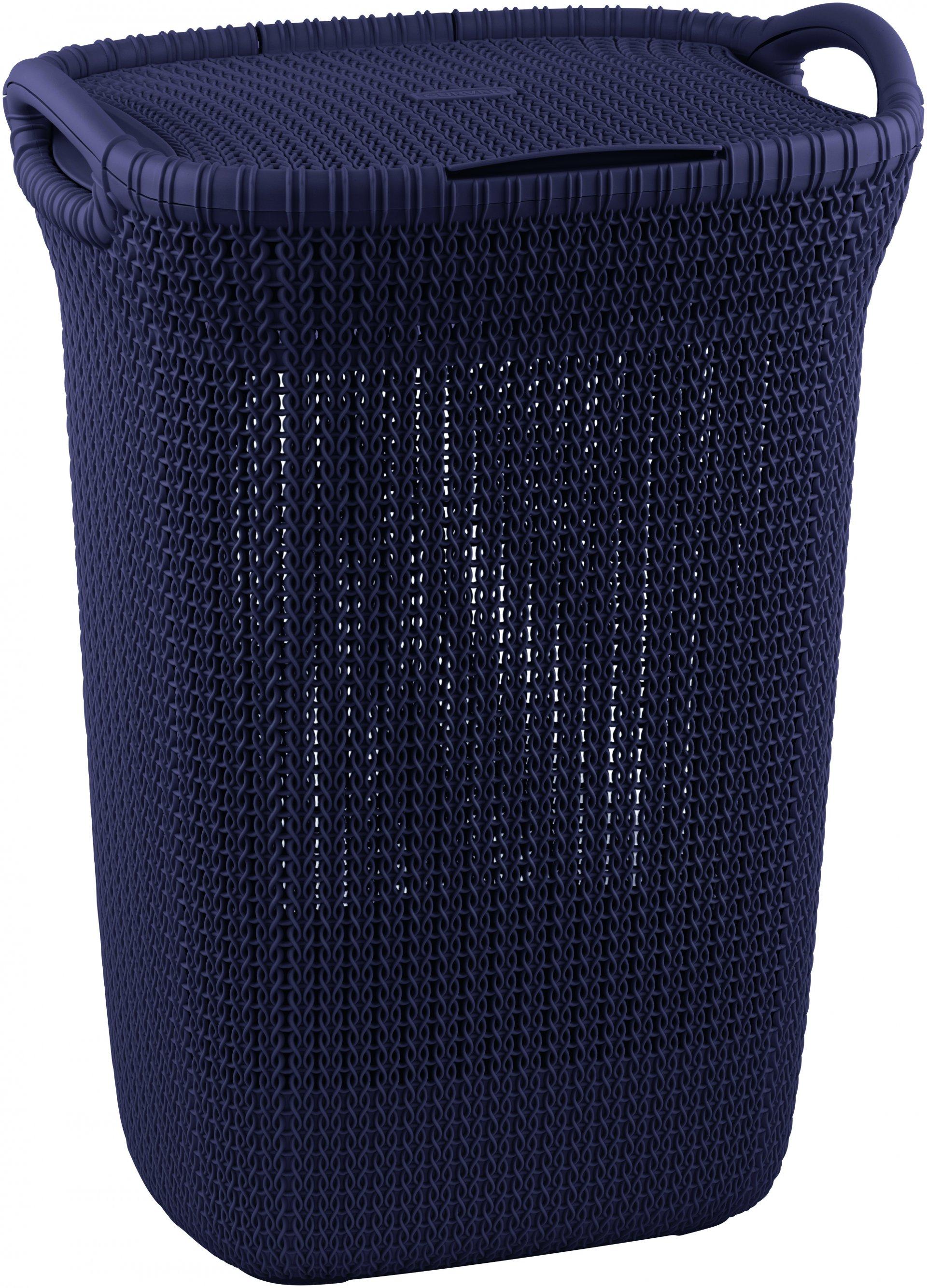 Curver Koš na špinavé prádlo KNIT 57l fialový
