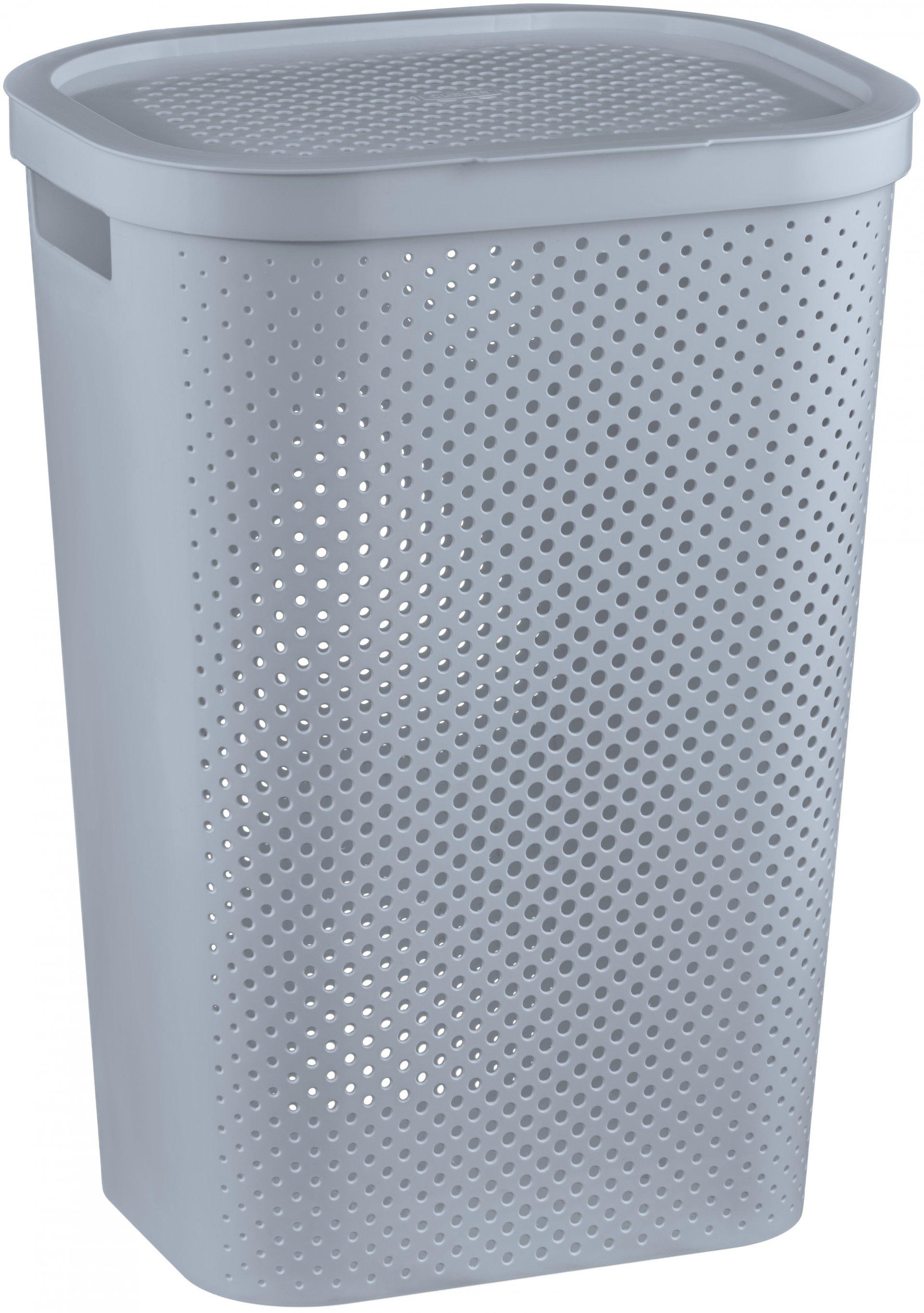 Curver Koš na špinavé prádlo INFINITY 59L šedý puntíky
