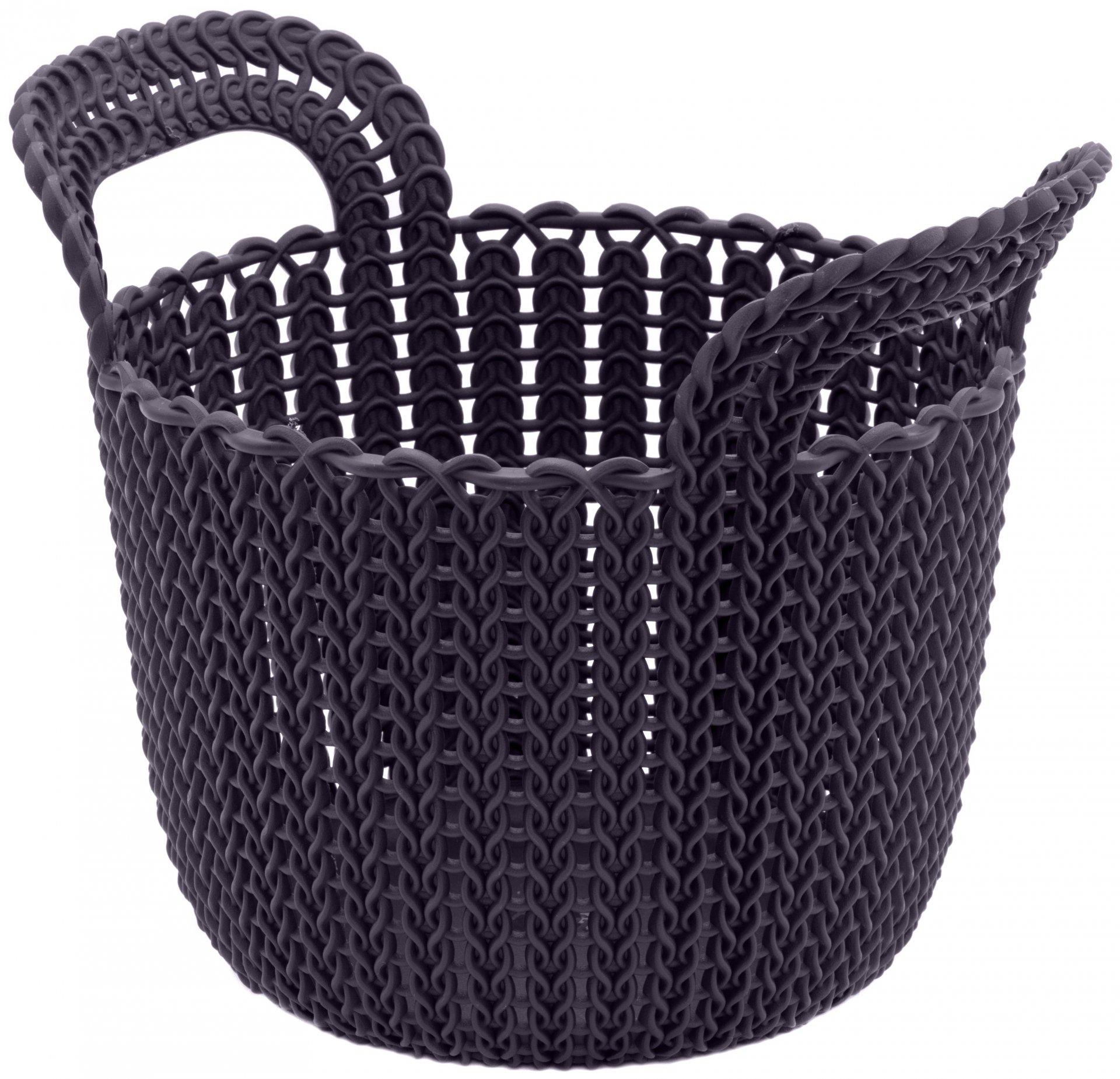 Curver Knit kulatý koš 3l fialový