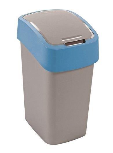 Curver odpadkový koš, FLIP BIN, stříbrný/modrý, 10l