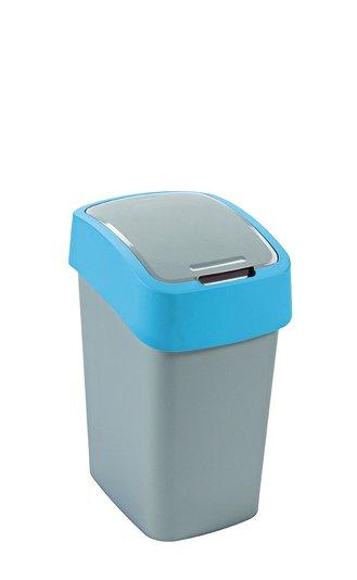Curver odpadkový koš, FLIP BIN, stříbrný/modrý, 25l