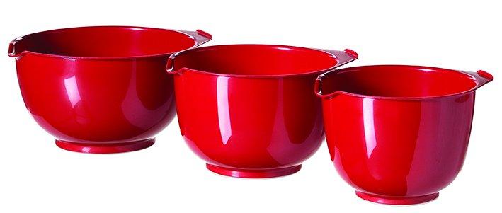 Curver set 3 šlehacích mís, červený