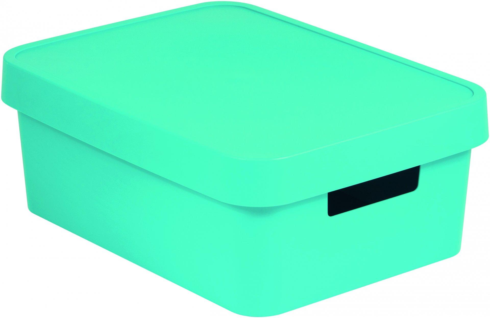 Curver Úložný box INFINITY 11l s víkem modrý