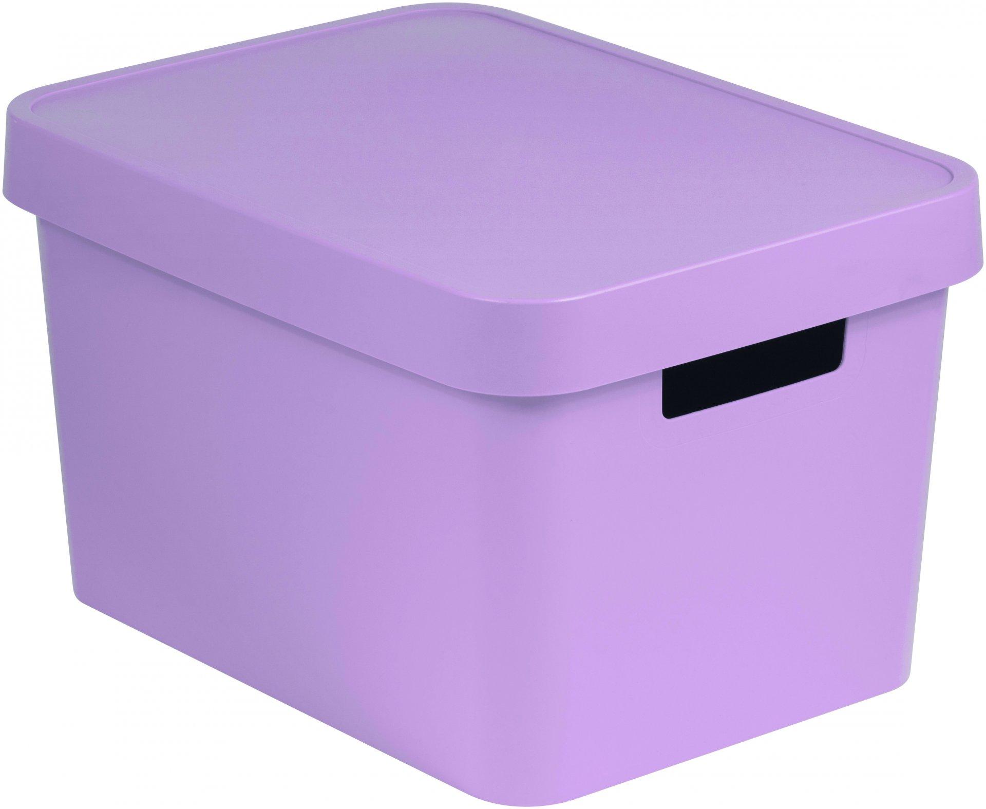Curver Úložný box INFINITY 17l s víkem růžový