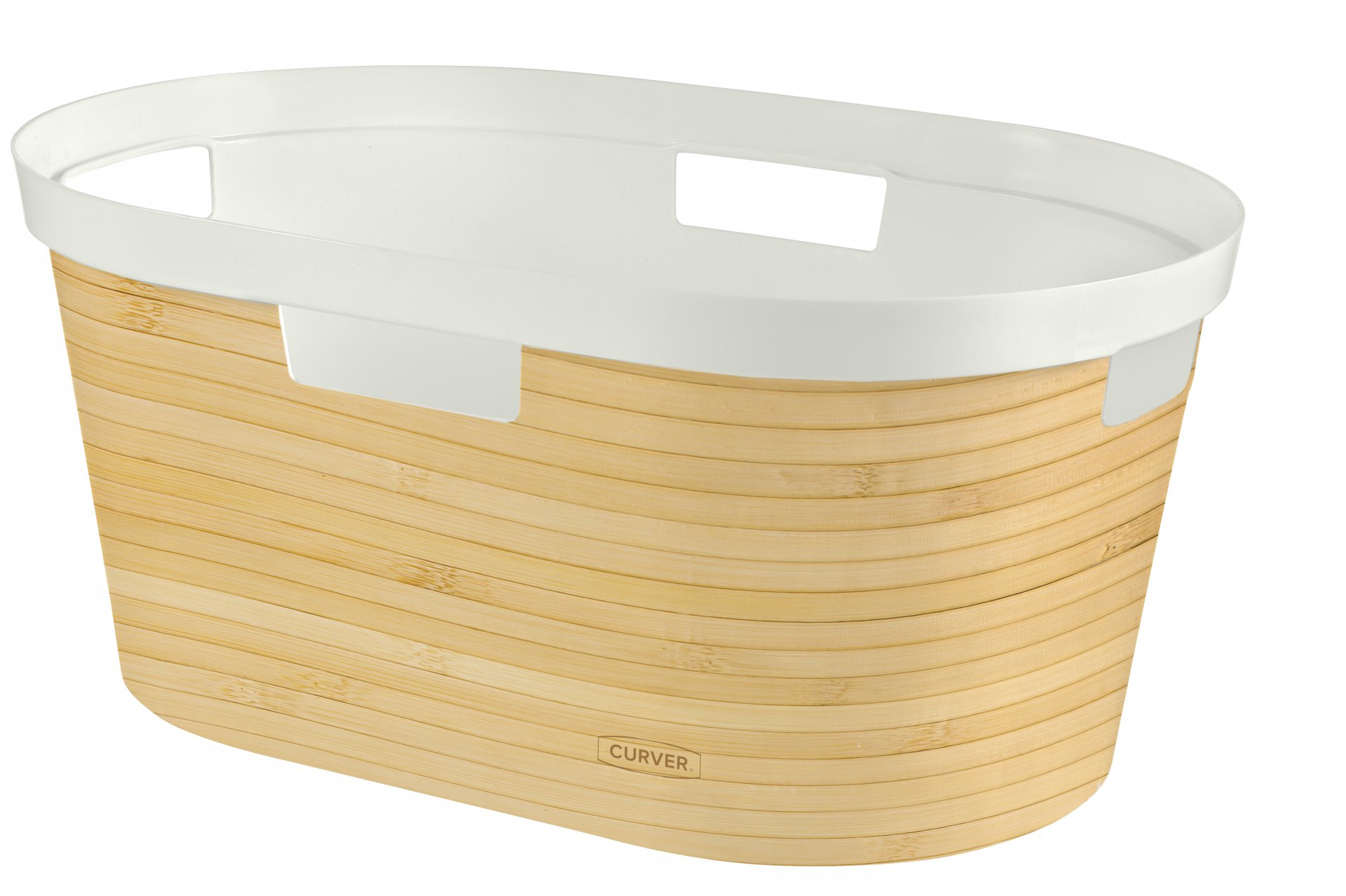 Curver Koš na čisté prádlo INFINITY 39L vzor bambus