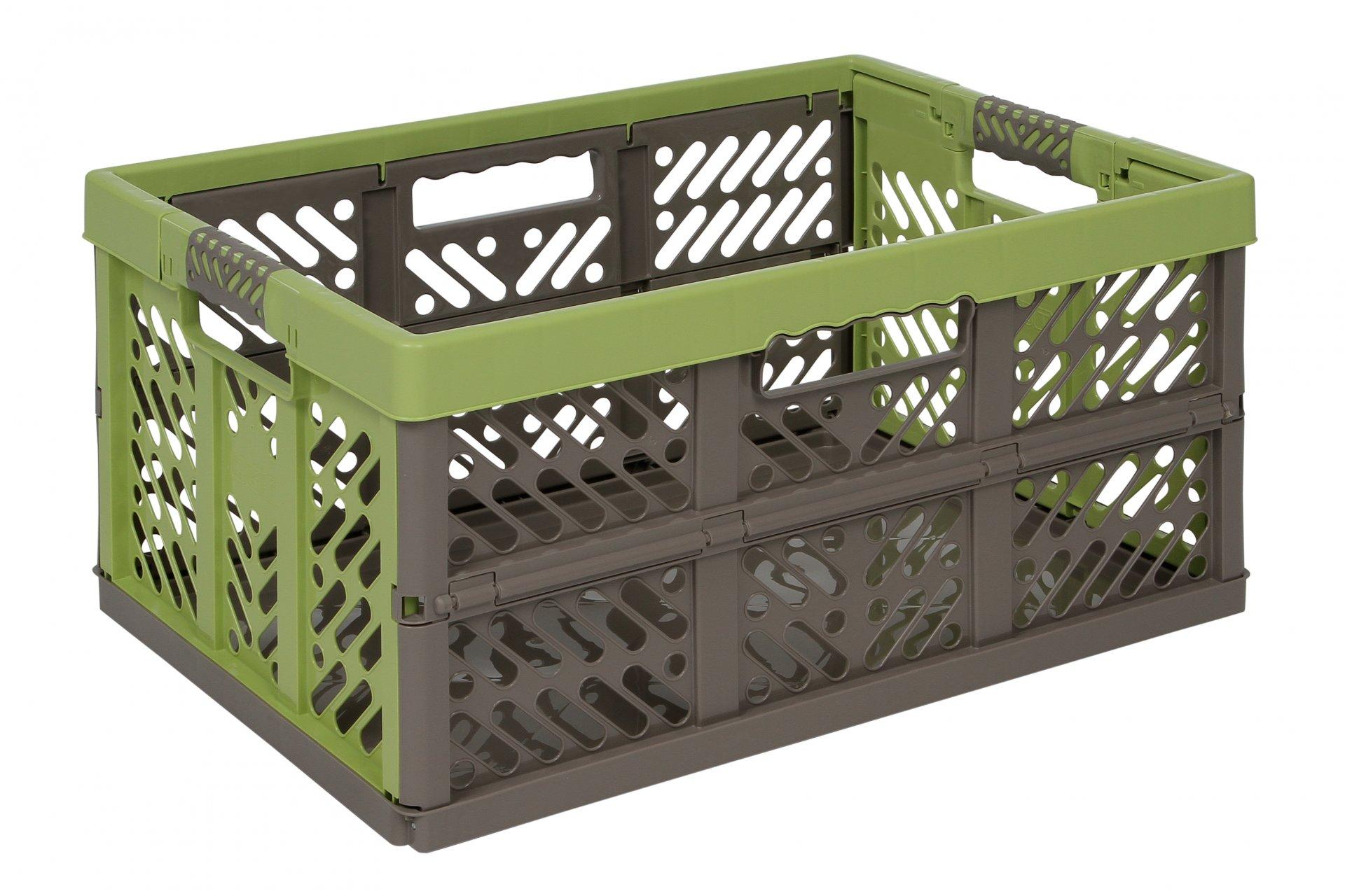 Keeeper Skládací box s měkkými úchyty ben, zelená/taupe 45L