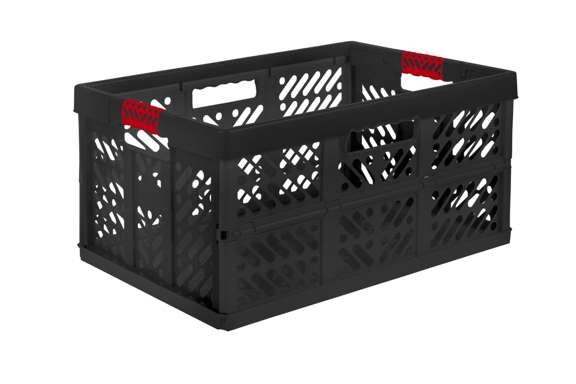 Keeeper Skládací box s měkkými úchyty ben, černá 45L