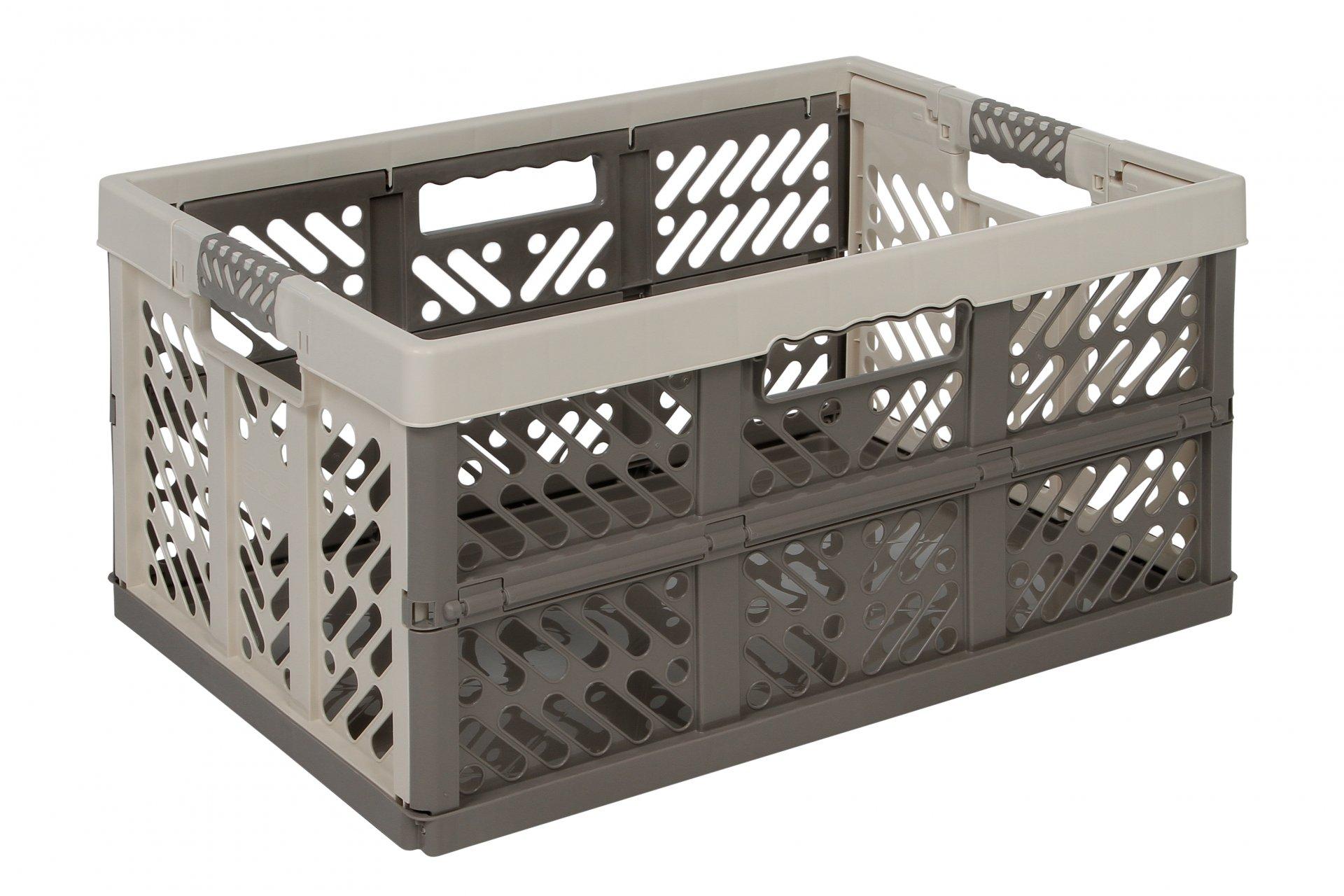 Keeeper Skládací box s měkkými úchyty ben, krémová/taupe 45L
