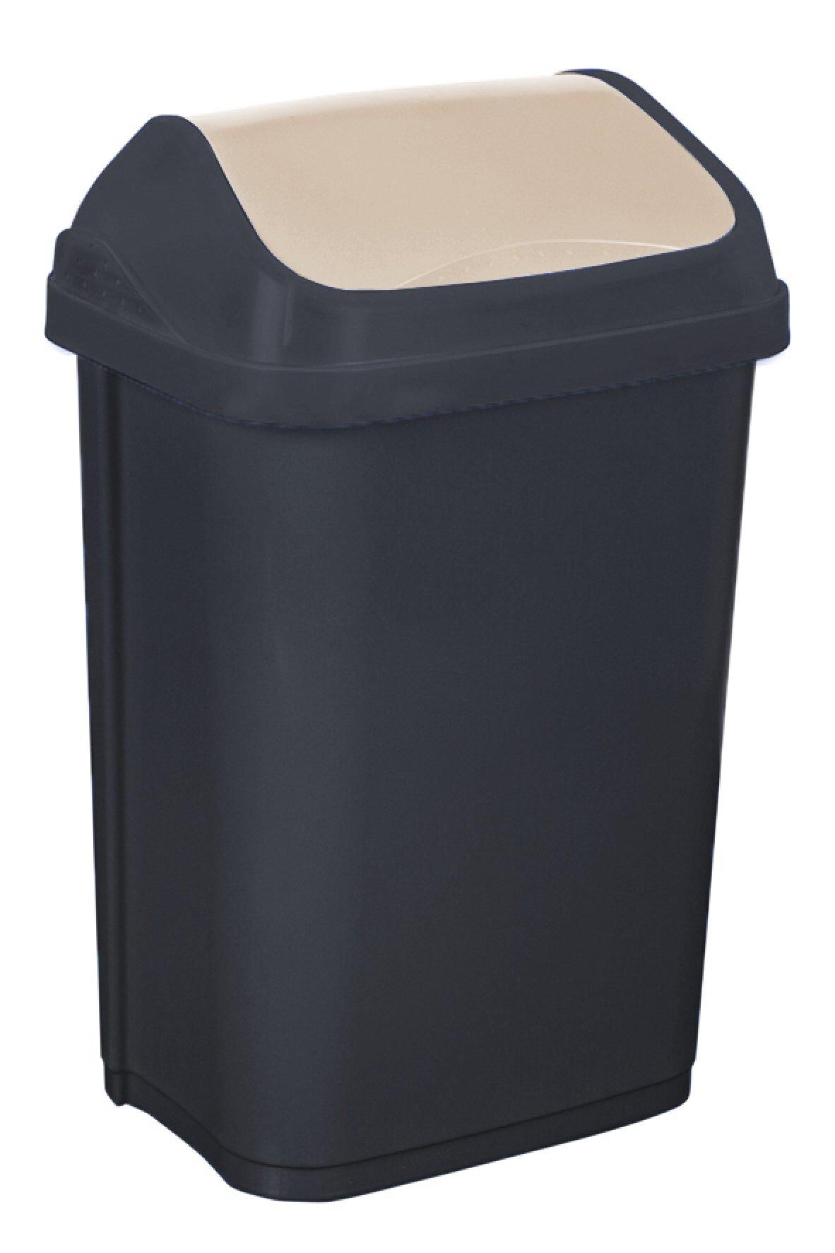 Keeeper Odpadkový koš s kyvným víkem swantje, tmavě šedý 50L