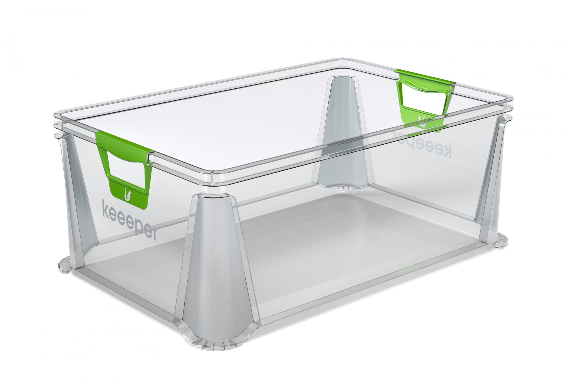 Keeeper Eurobox s měkkými úchyty luis, transparentní 45L