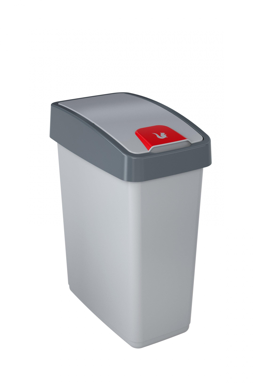 Keeeper Odpadkový koš s výklopným víkem magne, světle šedá 25L