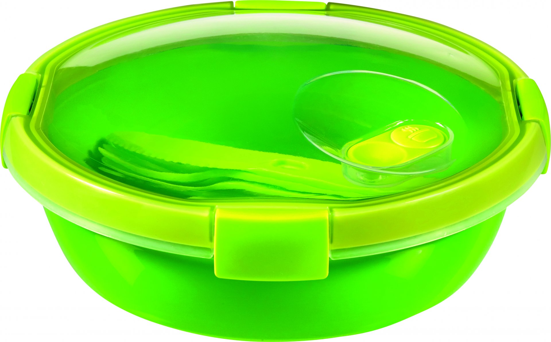 Curver kulatá dóza SMART TO GO 1l s příborem zelená