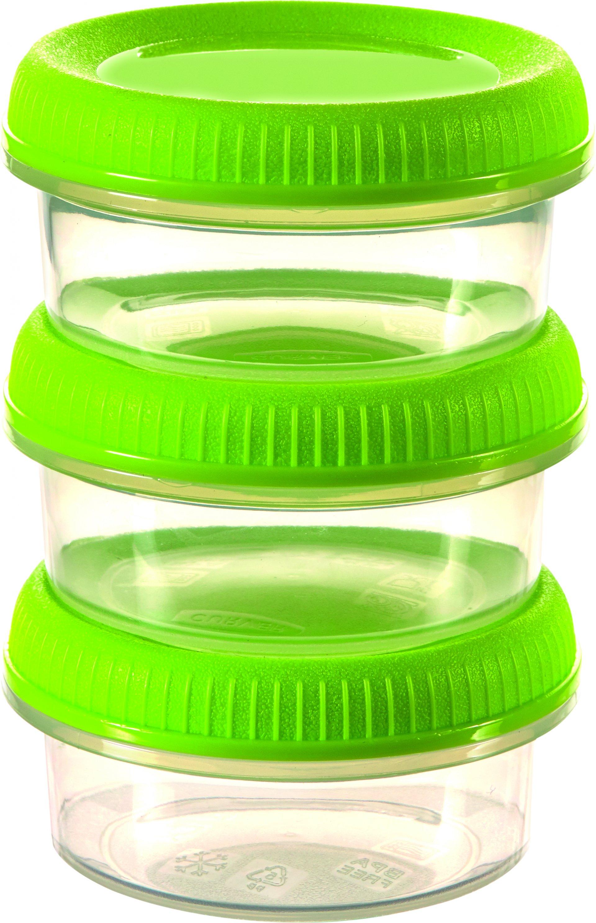 Curver set 3 mističek SMART TO GO zelené