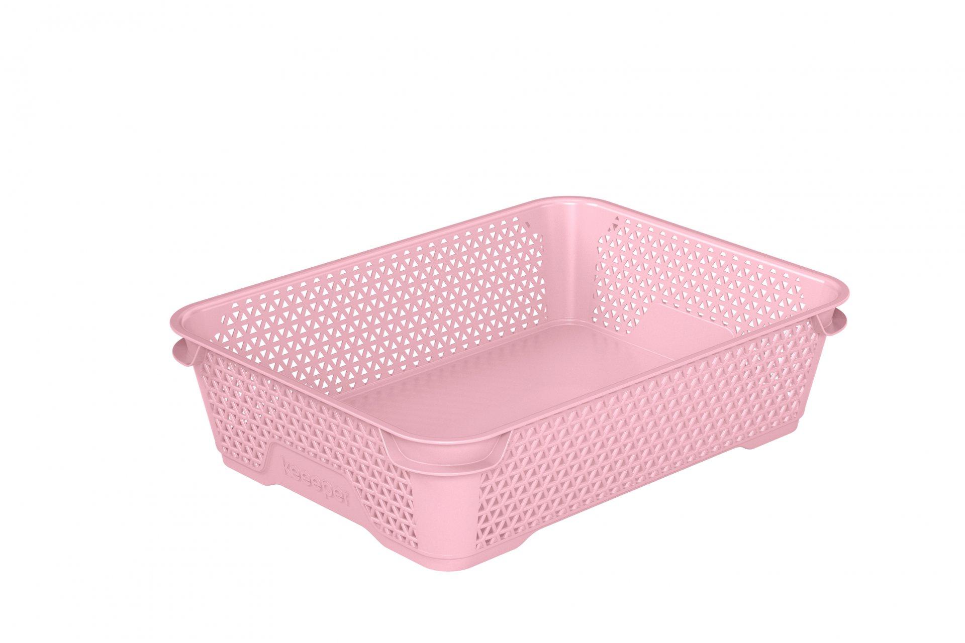 Keeeper Stohovatelný skladovací box mirko, růžový A5