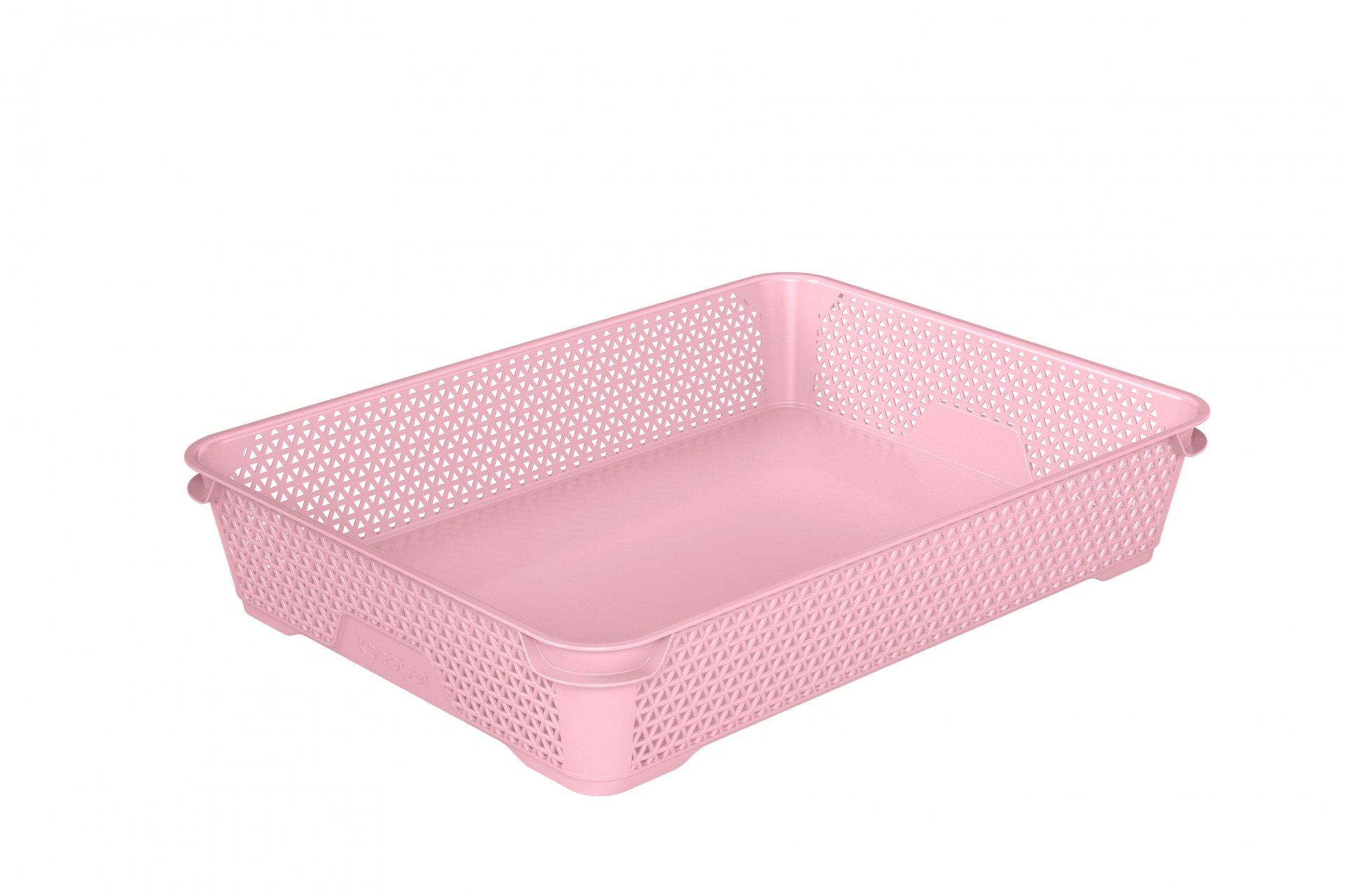 Keeeper Stohovatelný skladovací box mirko, růžový A4