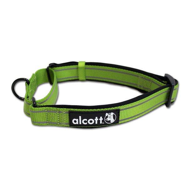 Alcott reflexní obojek pro psy, Martingale, zelený, velikost M