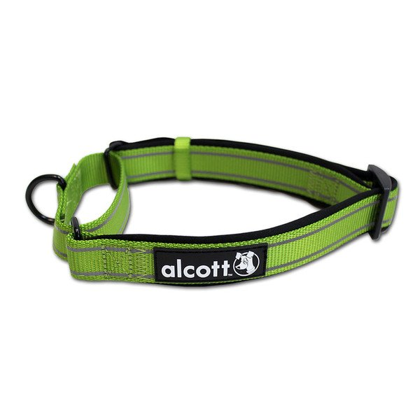 Alcott reflexní obojek pro psy, Martingale, zelený, velikost S