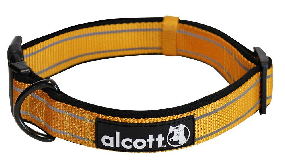 Alcott reflexní obojek pro psy, Adventure, oranžový, velikost M