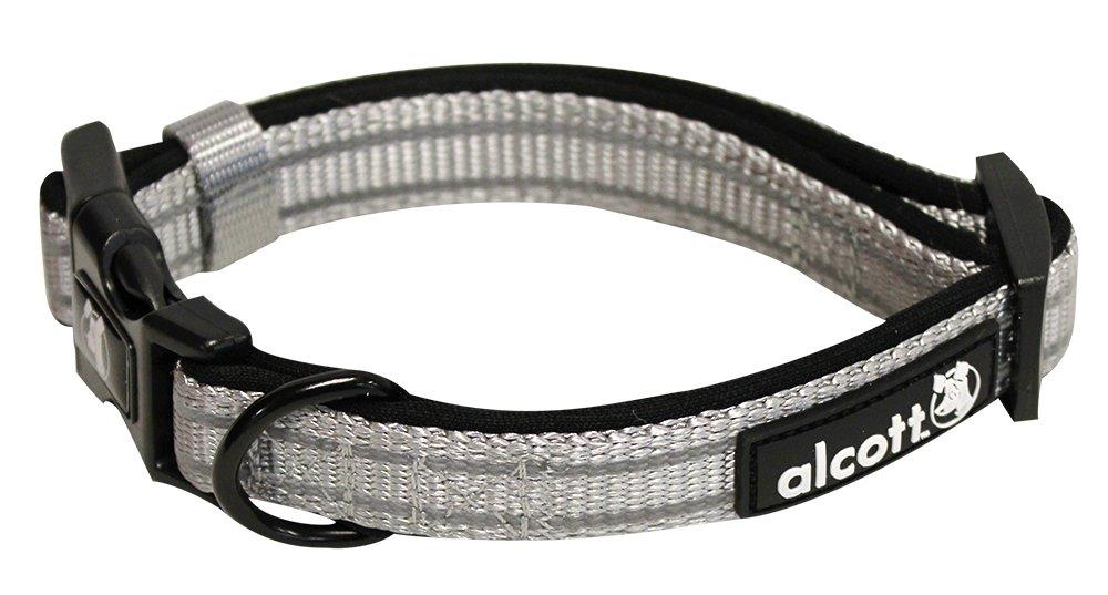Alcott reflexní obojek pro psy, Adventure, šedý, velikost L