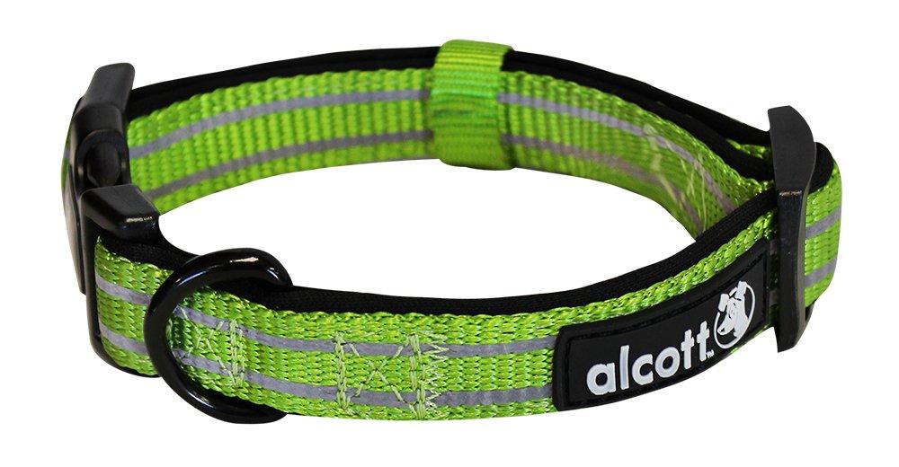 Alcott reflexní obojek pro psy, Adventure, zelený, velikost S