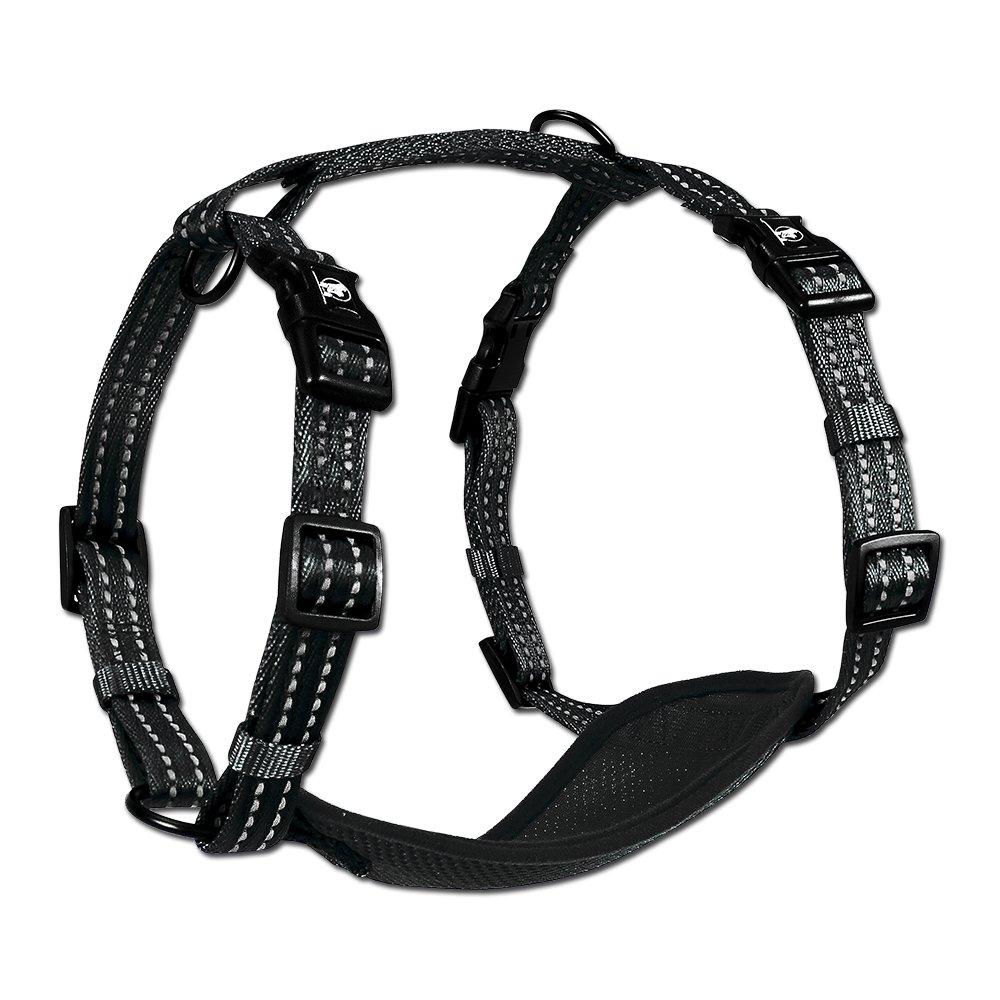 Alcott Reflexní postroj pro psy, černý, velikost M