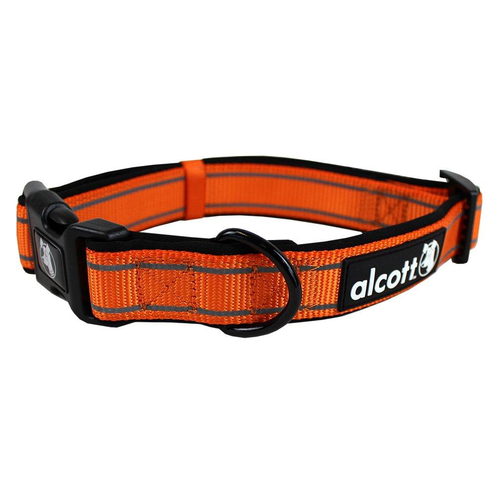 Alcott reflexní obojek pro psy, oranžový, velikost M