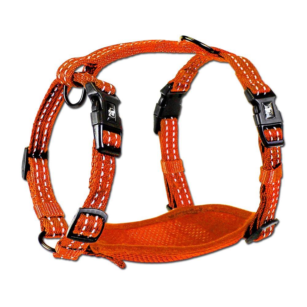 Alcott reflexní postroj pro psy, oranžový, velikost L