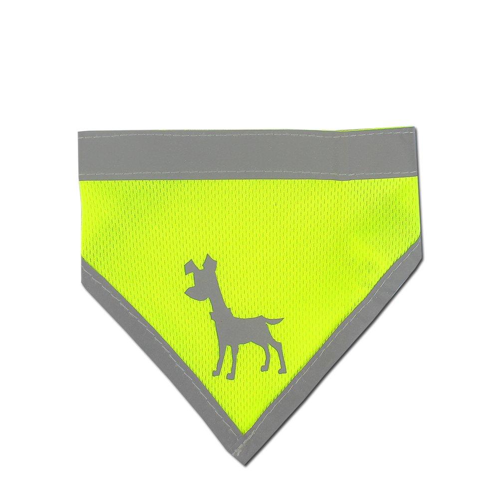 Alcott reflexní šátek pro psy, žlutý, velikost M