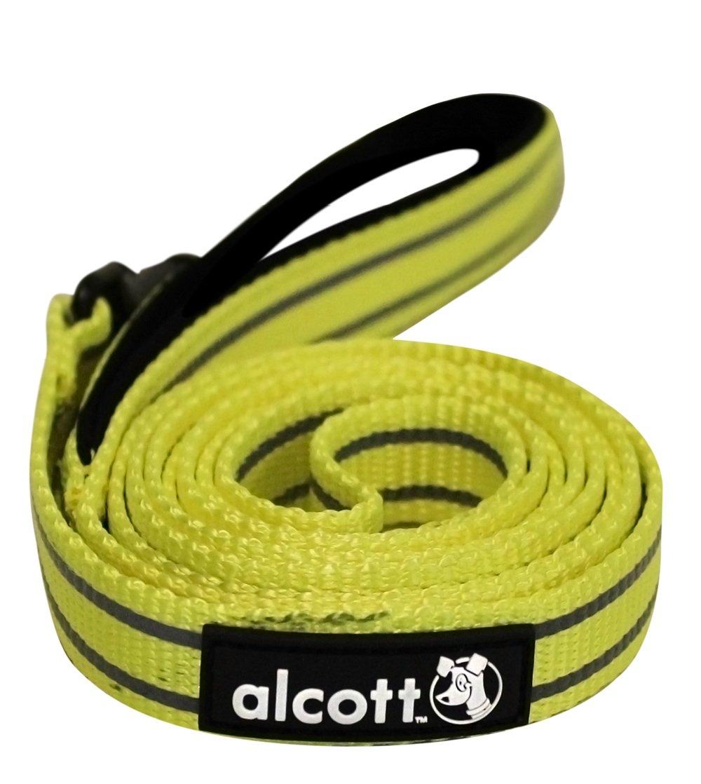 Alcott reflexní vodítko pro psy, žluté, velikost L
