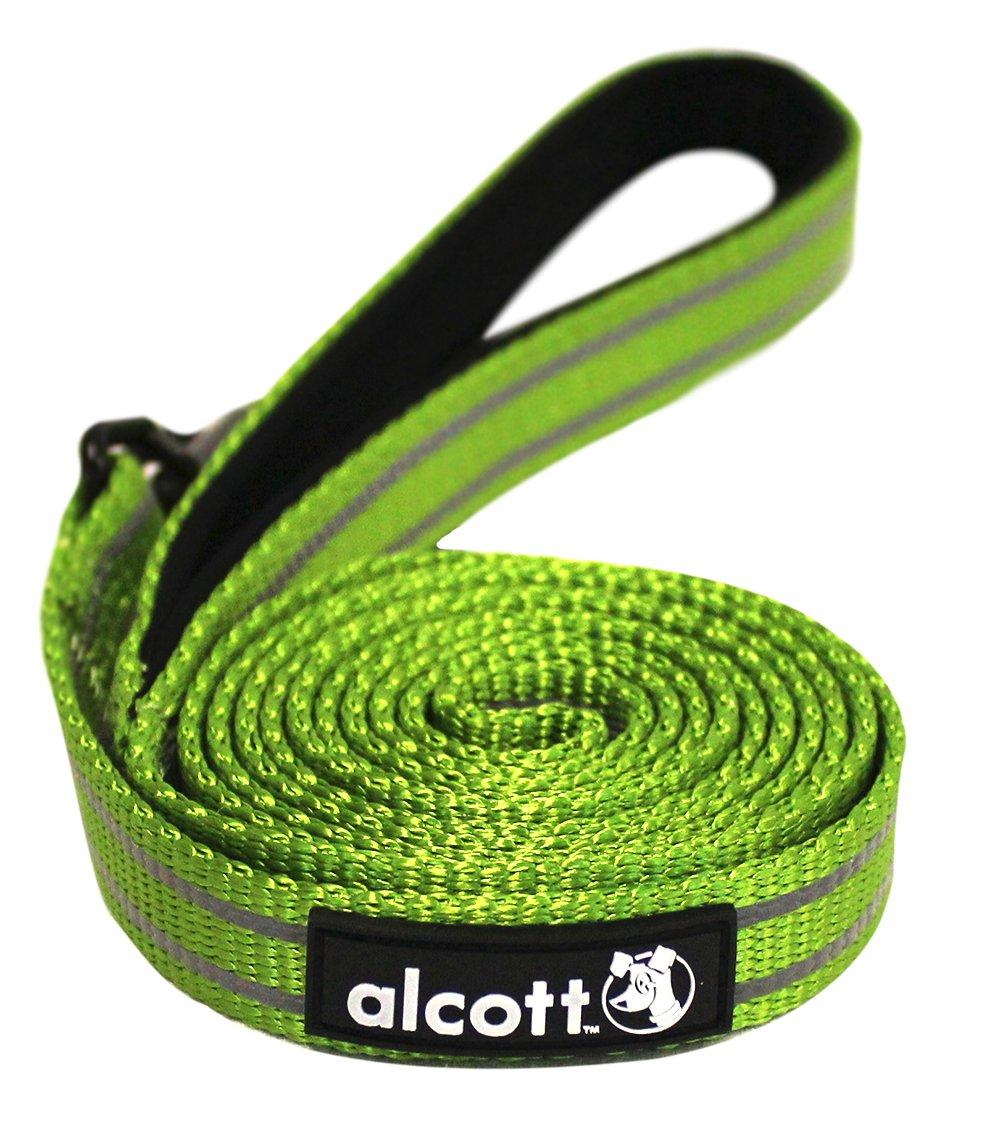 Alcott reflexní vodítko pro psy, zelené, velikost S