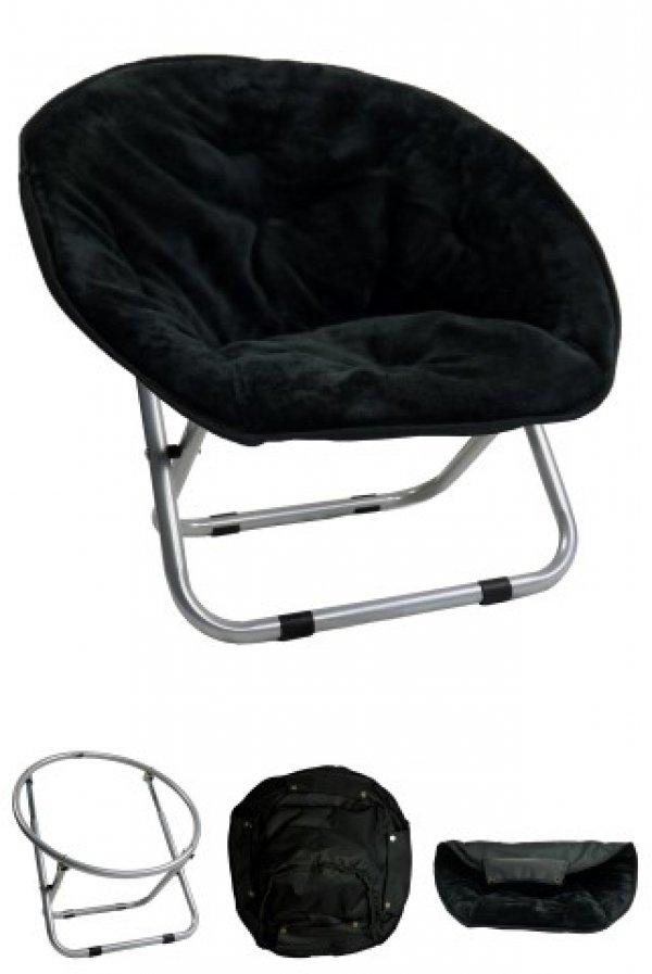 Papillon křesílko, Relax, černé, 50x50x40cm