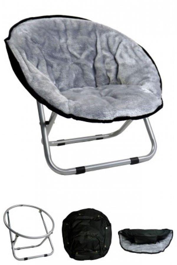 Papillon křesílko, Relax, světle šedé, 50x50x40cm