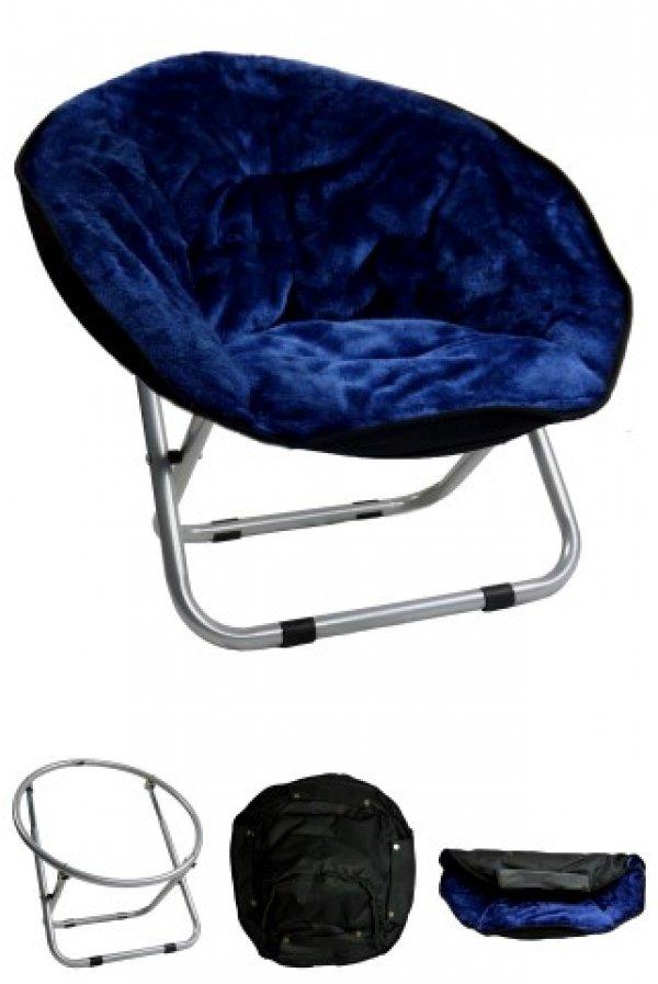 Papillon křesílko, Relax, tmavě modré, 50x50x40cm