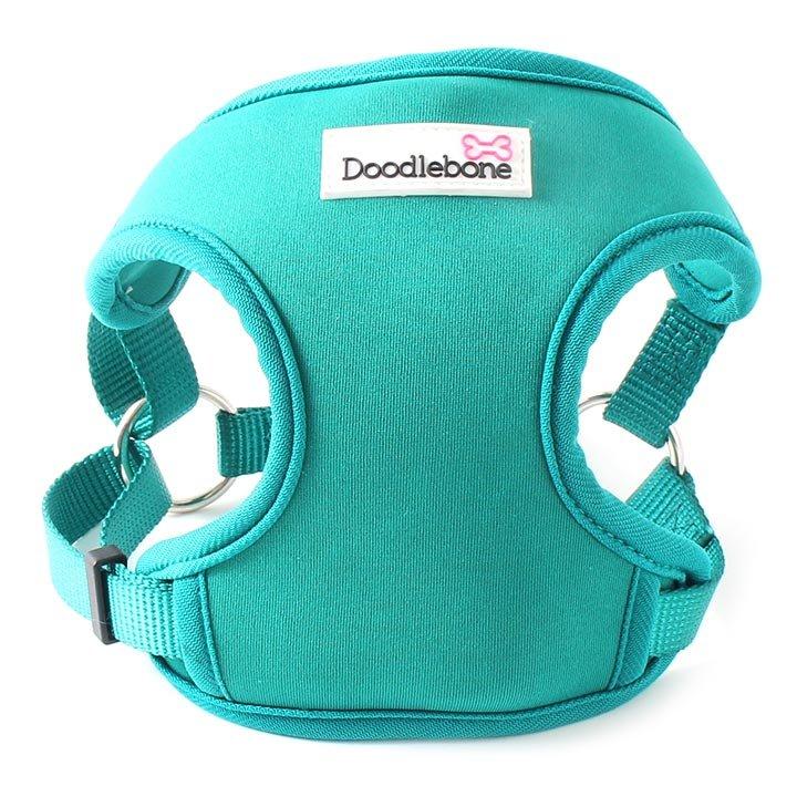 Doodlebone chladící postroj, NeoFlex, modrý/zelený, velikost L