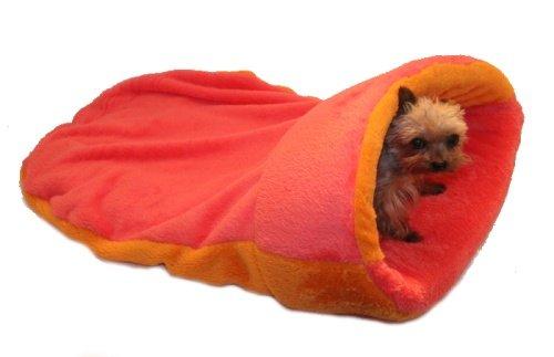 Marysa pelíšek 2v1 s lemem, oranžový/růžový, velikost XL