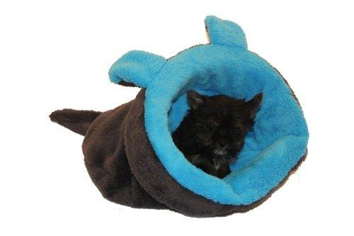 Marysapelíšek 2v1 pro štěňátka/koťátka, MYŠÁK, modrý/černý