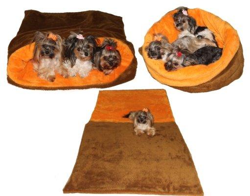 Marysa pelíšek 3v1 MAX, skořicový/oranžový