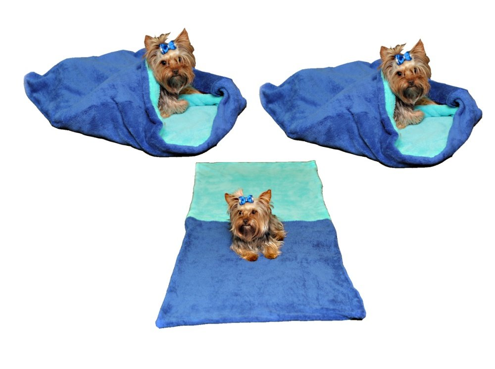 Marysa pelíšek 3v1 pro psy, modrý/tyrkysový, velikost XL