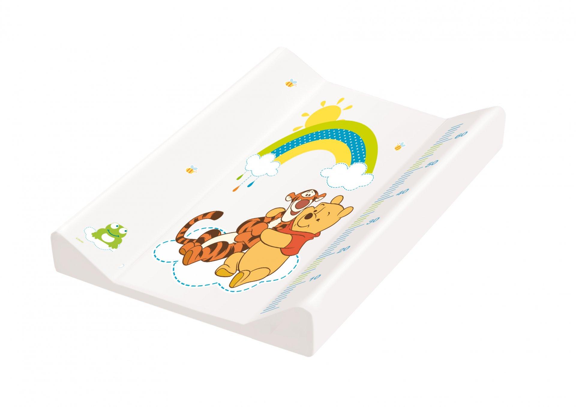 Keeeper Přebalovací podložka pevná s metrem pawel, Medvídek Pú, bílá